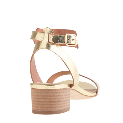 JCrew Evie Gold Sandal