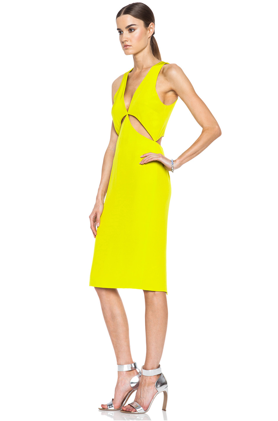 Cushnie Et Ochs Yellow Dress