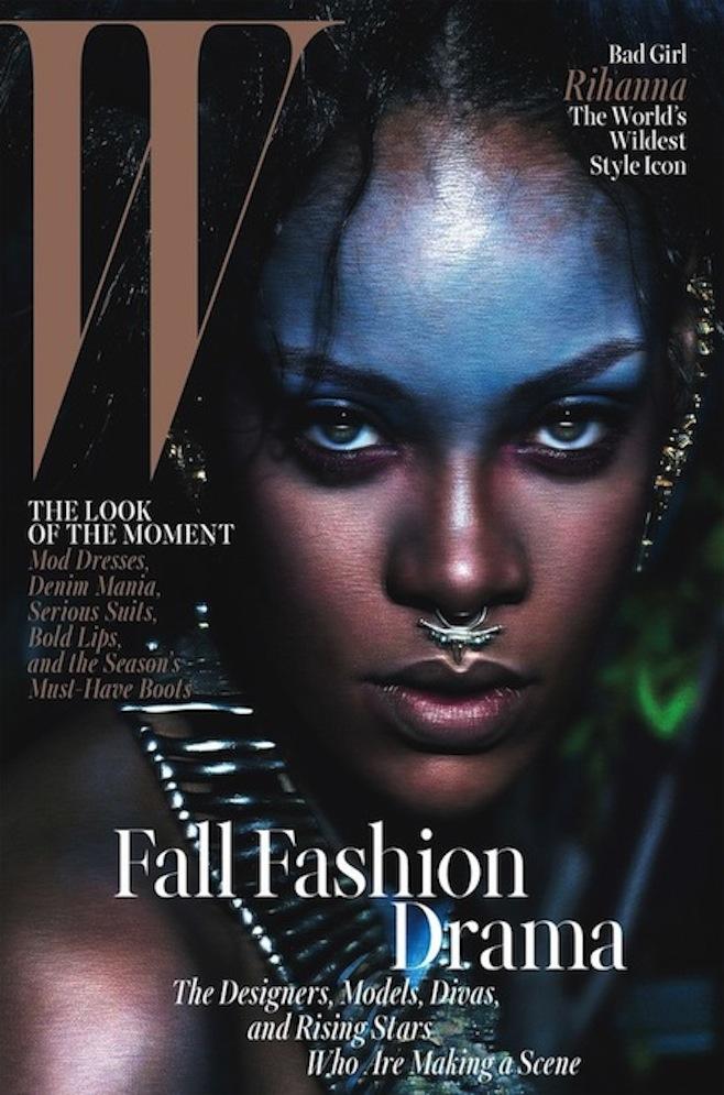 Rihanna W Mag Cover