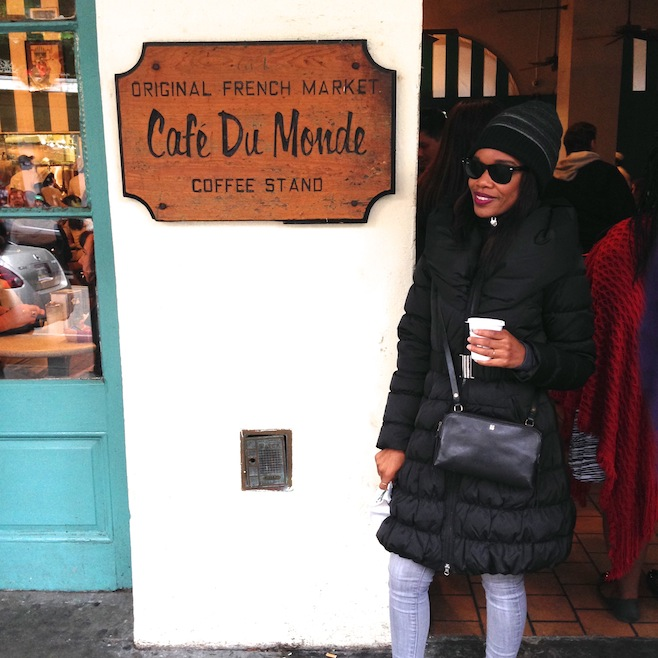 Ruki Garuba Cafe Du Monde New Orleans Louisiana