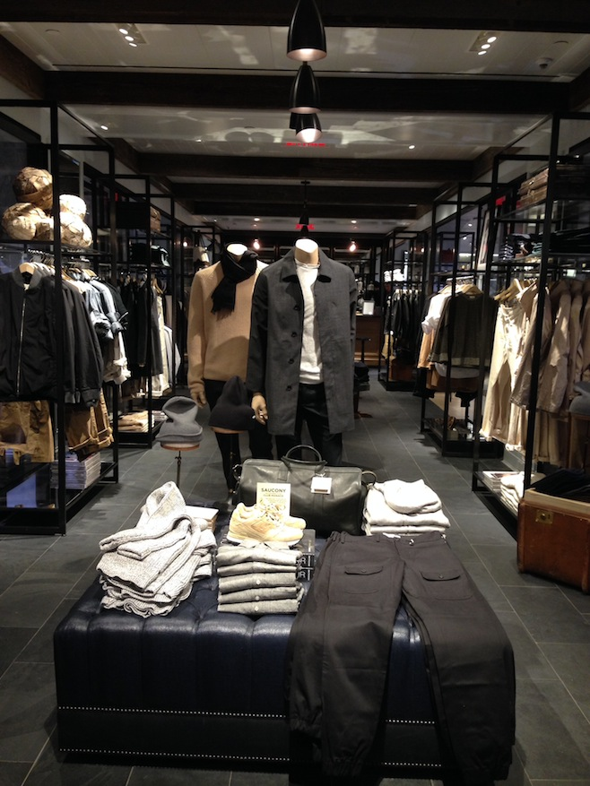 Club Monaco Menswear Display
