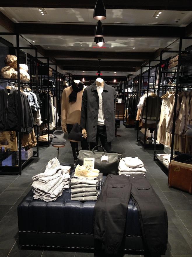 Club Monaco Menswear Display