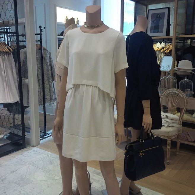 Club Monaco Neutral Crop Top Dress
