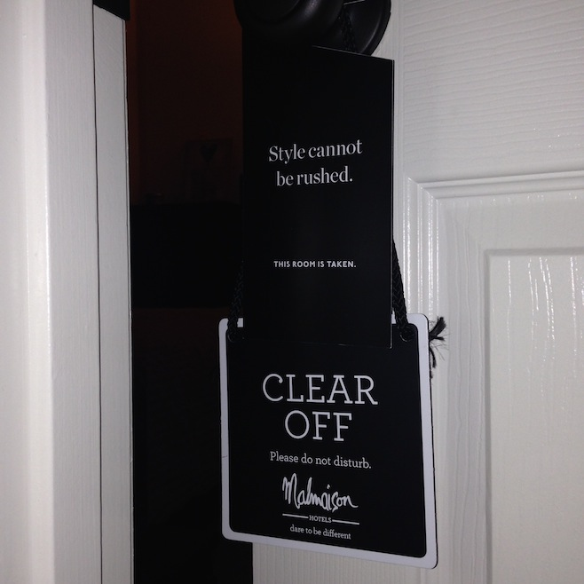 Guest Room Do Not Disturb Sign